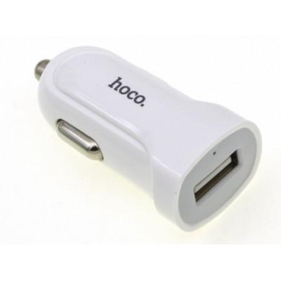 Автомобільний адаптер USB Hoco Z2 + Micro Usb (5V 1,5A) White