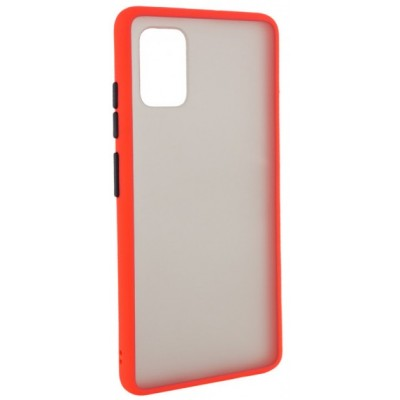 Накладка Color Buttons TPU для Samsung A515 (A51 2020) Red