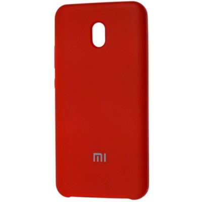 Накладка Silicone Cover для Xiaomi Redmi 8A Silky&Soft Touch Dark Red