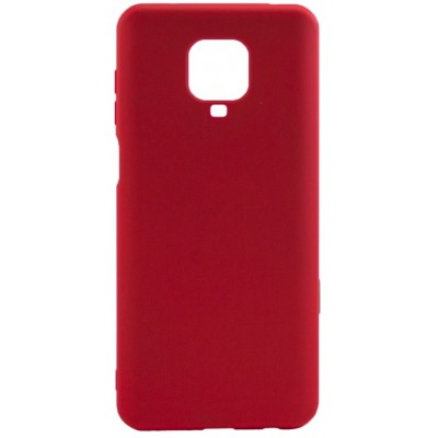Накладка Silicone Cover для Xiaomi Redmi Note 9sNote 9 Pro Silky&Soft Touch Dark Red